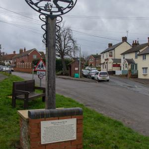 DK 16 Village sign the Street 2